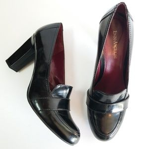 Enzo Angiolini Everest patent leather heels loafer